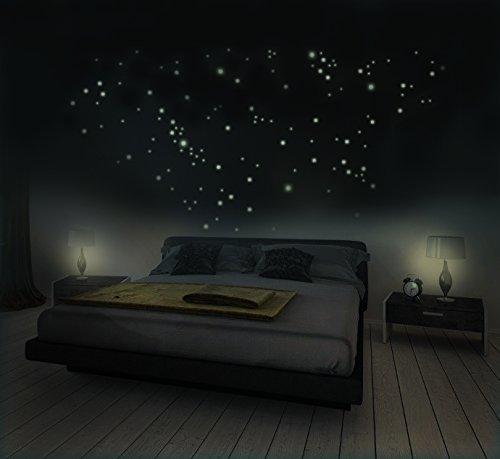 281 Leuchtsterne für Sternenhimmel, Wandsticker, fluoreszierend und ...