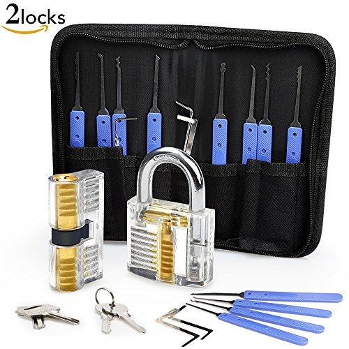 lockpicking set eventronic 17 teiliges dietrich set mit 2 transparentem trainingsschl ssern und. Black Bedroom Furniture Sets. Home Design Ideas
