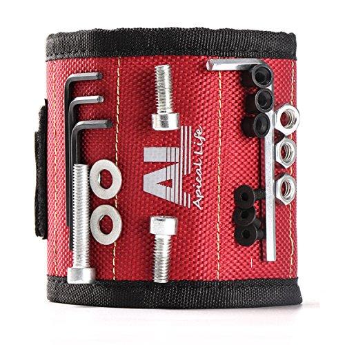 magnetisches armband mit 10 starken magneten die leicht schrauben n gel bohrer und andere. Black Bedroom Furniture Sets. Home Design Ideas