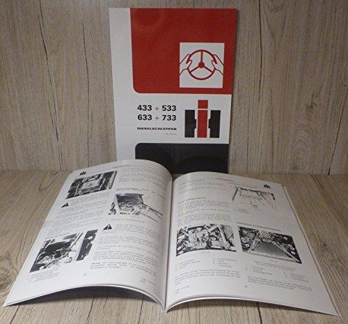 werkstatthandbuch regelhydaulik f r ihc schlepper 433 533. Black Bedroom Furniture Sets. Home Design Ideas
