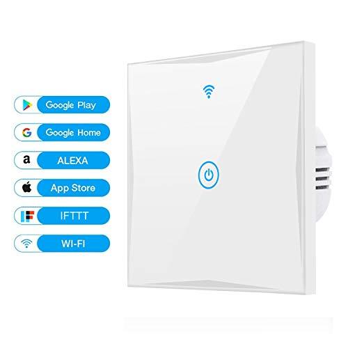 alexa smart lichtschalter saiham 1 weg wifi in wall schalter arbeitet mit amazon alexa und. Black Bedroom Furniture Sets. Home Design Ideas