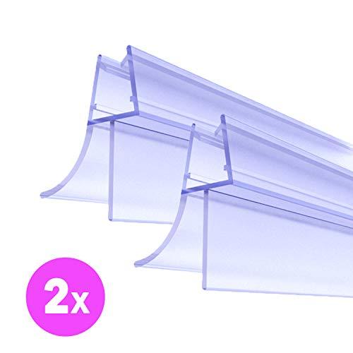 premium duscht r dichtung 2 x 100 cm duschleiste f r duschkabine mit wasserabweiser glast r. Black Bedroom Furniture Sets. Home Design Ideas