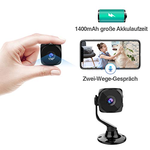 berwachungskamera kean mini kamera aussen wlan ip kamera hd1080 wireless wifi zwei wege. Black Bedroom Furniture Sets. Home Design Ideas
